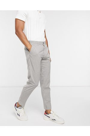 Topman Skinny smart trouser in mini toffee check