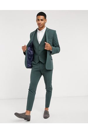 ASOS Super skinny suit waistcoat in forest