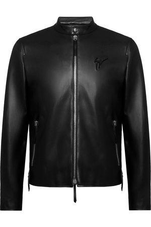 Giuseppe Zanotti Zip-front leather jacket