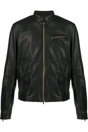 Ajmone Structured leather jacket
