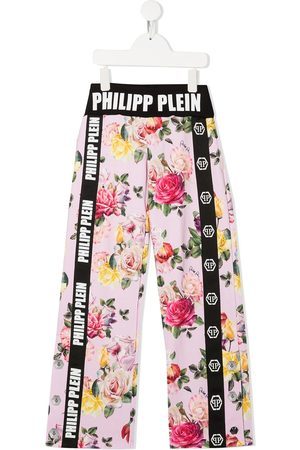 Philipp Plein Floral print loose-fit trousers