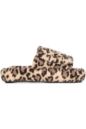 Natasha Zinko Leopard print slippers