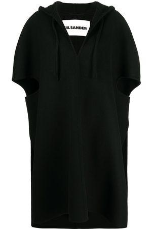 Jil Sander Hooded v-neck cape