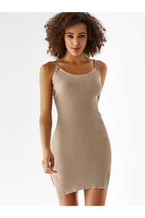 YOINS Women Camisoles - Scoop Neck Slit Hem Cami Dress
