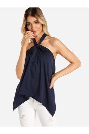 YOINS Women Halterneck Tops - Self-tie Design Halter Sleeveless Vest