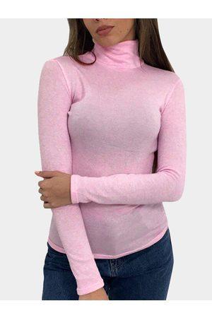 YOINS Women Long Sleeve - Sheer-through High Neck Long Sleeves Bodycon T-shirt