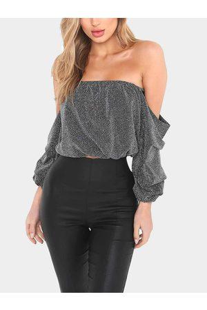 YOINS Women Long Sleeve - Light Off-the-shoulder Top