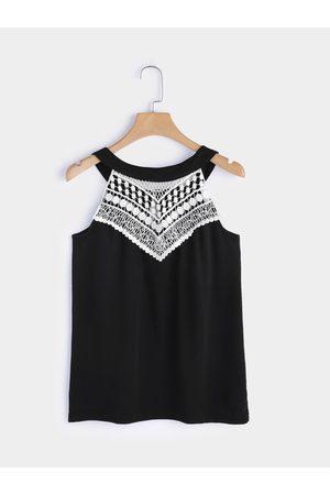 YOINS Women Camisoles - Lace Insert Camis