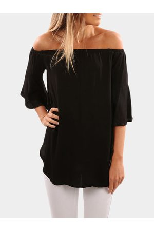 YOINS Women Tops - Off The Shoulder Bell Sleeved Top