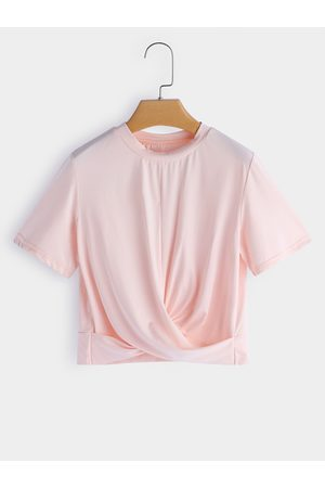 YOINS Women Short Sleeve - Crossed Front Design Perkins Collar Short Sleeves T-shirt