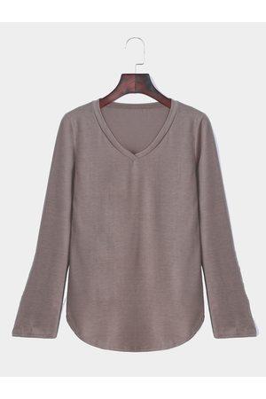 YOINS Women Long Sleeve - V-neck Long Sleeves Top