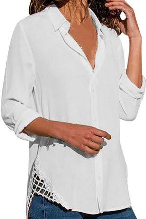 YOINS Women Blouses - Button Front Design Classic Collar Long Sleeves Blouse