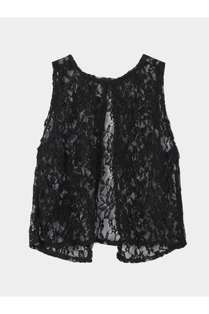 YOINS Back Split Crochet Lace Top in