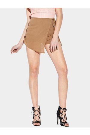 YOINS Women Skorts - Sexy See-though High Waist Irregular Hem Skort