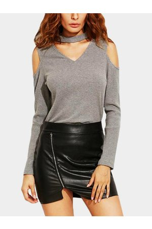 YOINS Women Halterneck Tops - Cold Shoulder & Halter Top