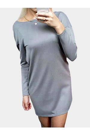 YOINS Women Casual Dresses - Round Neck Cross Back Hollow Detail Mini Dress