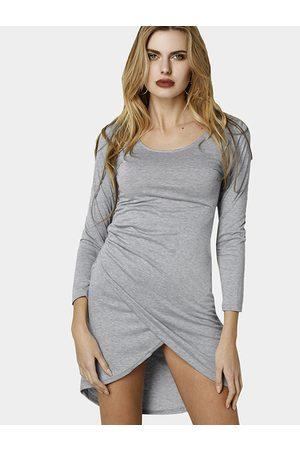 YOINS Women Bodycon Dresses - Bodycon Deep V Irregular Hem Party Thin Dress
