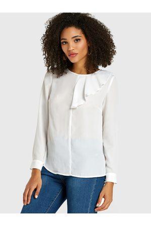 YOINS Women Blouses - Pleated Design Long Sleeves Blouse