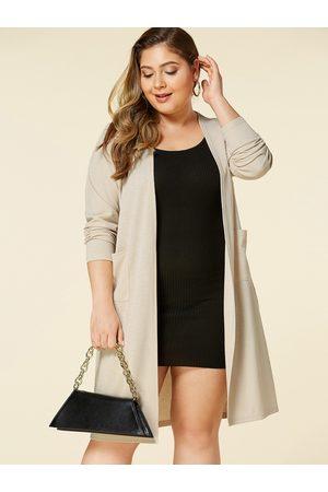 YOINS Plus Size Pocket Design Long Sleeves Cardigan