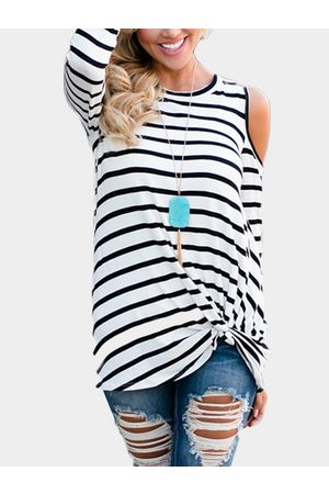 YOINS Stripe Knotted Fashion T Shirt