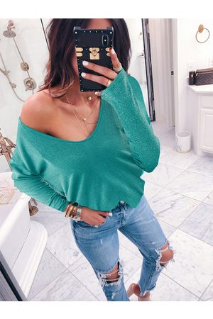 YOINS Women Long Sleeve - One Shoulder Long Sleeves Knit Top