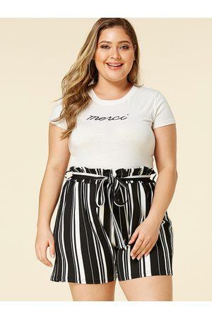 YOINS Women Belts - Plus Size Belt Design Black Stripe Shorts