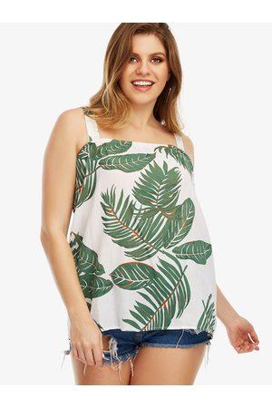 YOINS Plus Size Leaf Print Cami