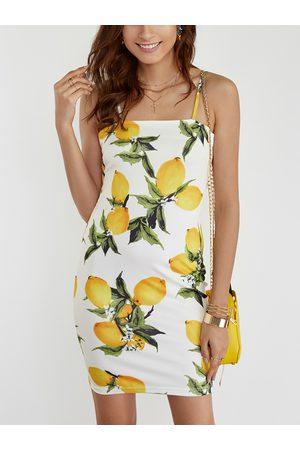 YOINS Backless Random Floral Print Bateau Sleeveless Mini Dress