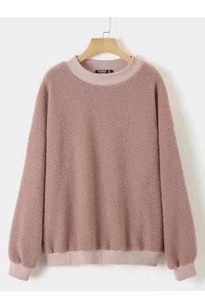 YOINS Women Sweatshirts - Plus Size Round Neck Sweatshirt