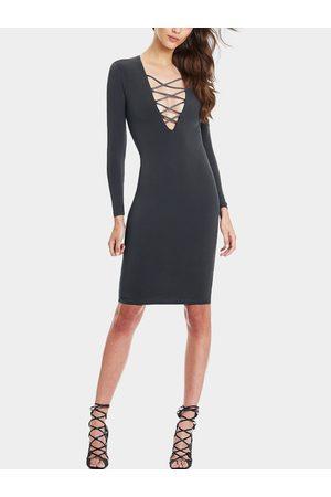 YOINS Women Party Dresses - Dark Midi Dress with Criss-Cross Straps