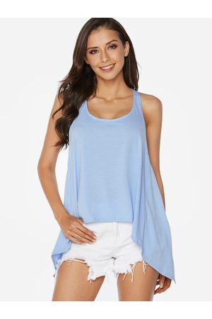 YOINS Women Halterneck Tops - Sky Sexy Halter Backless Irregular Hem Vest