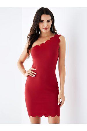 YOINS One Shoulder Sleeveless Bodycon Dress