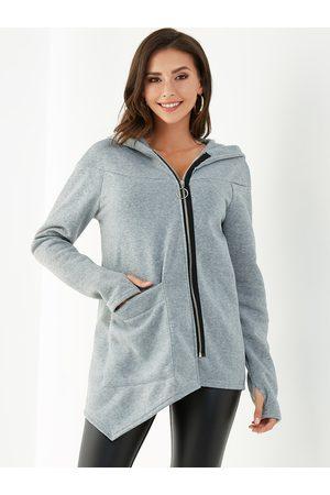 YOINS Zip Front Pocket Design Long Sleeves Hoodies
