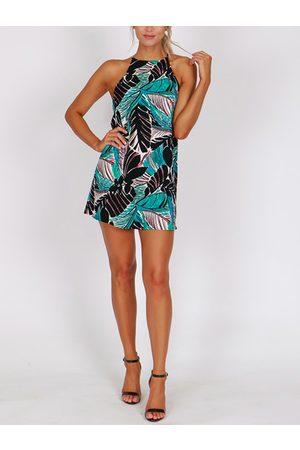 YOINS Tropical Halter Sleeveless Dress