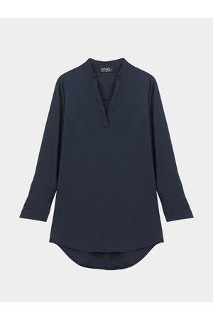YOINS Women Skinny Pants - V Neckline Shirt with Adjustable Sleeve