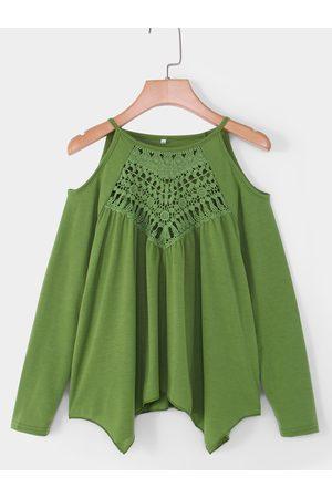 YOINS Women Long Sleeve - Hollow Design Cold Shoulder Long Sleeves T-shirt