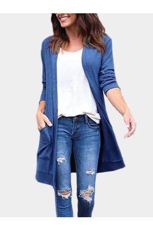 YOINS Women Long Sleeve - Two Large Pockets Long Sleeves Causal Cardigan