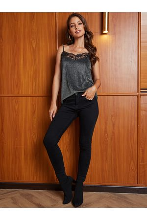 YOINS Women Camisoles - Lace Spaghetti Straps Cannetille Cami
