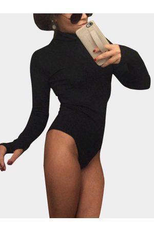 YOINS Women Long Sleeve - High Neck Long Sleeves Bodycon Bodysuit