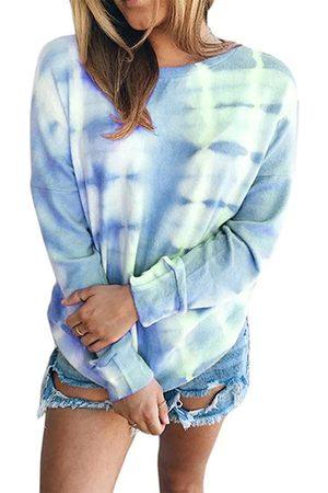YOINS Women Long Sleeve - Tie Dye Crew Neck Long Sleeves Sweatshirt
