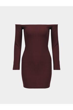 YOINS Women Bodycon Dresses - Bodycon Off Shoulder Long Sleeves Mini Dress
