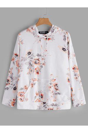 YOINS Random Floral Print Long Sleeves Hoodie