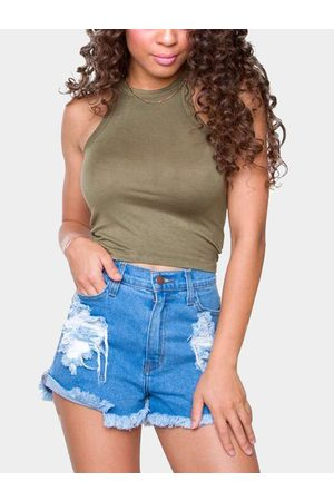 YOINS Round Neck Bodycon Crop Camis