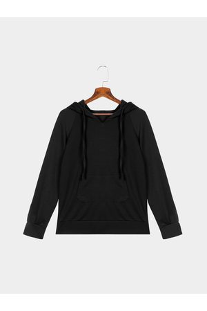 YOINS Pullover Long Sleeves Pouch Pocket Hoodie