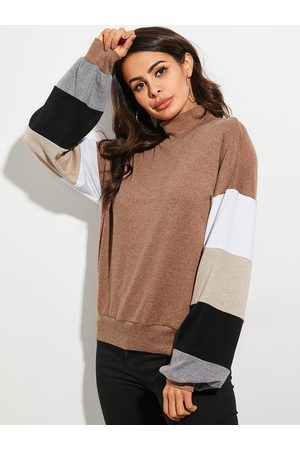 YOINS Color Block Long Sleeves Sweatshirt
