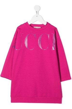 Emilio Pucci Girls Printed Dresses - Logo-print sweatshirt dress