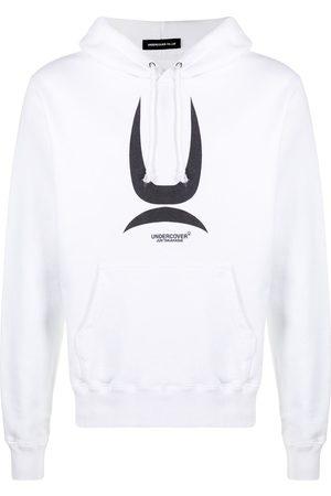 UNDERCOVER Logo drawstring hoodie