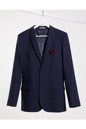 ASOS Wedding super skinny wool mix suit jacket in herringbone