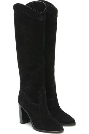 Saint Laurent Kate 90 suede knee-high boots