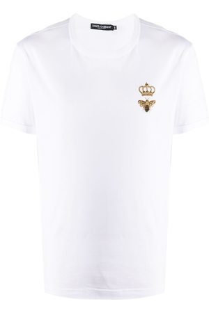 Dolce & Gabbana Bee crown embroidered T-shirt
